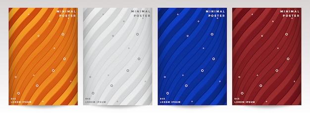 Design minimale delle copertine. futuri motivi geometrici.