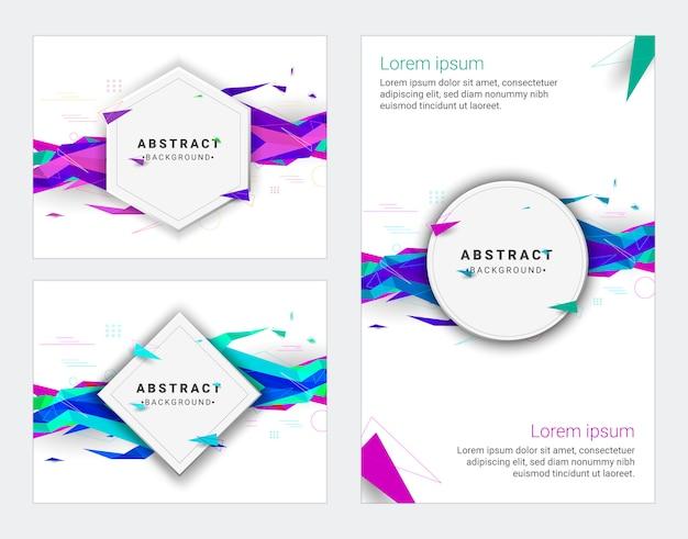 Design minimale delle copertine. modello geometrico di sfondo