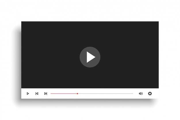 Design minimale modello video player in stile bianco