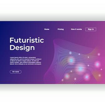 Design minimalista della pagina di atterraggio con geometrica astratta