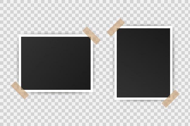 Design mockup cornice per foto. fotografia realistica. illustrazione.
