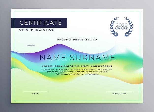 Design modello di certificato di diploma creativo