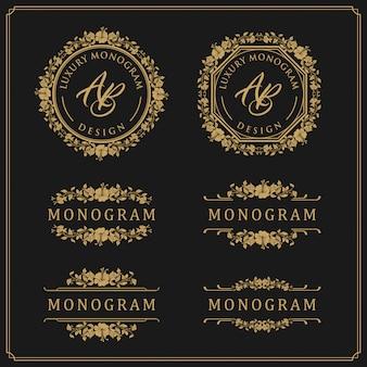 Design modello di lusso per matrimonio e decorazione