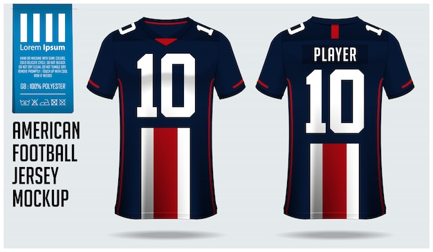 Design modello di maglia football americano o kit calcio