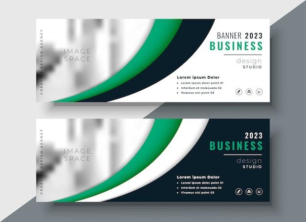 Design moderno banner aziendale verde