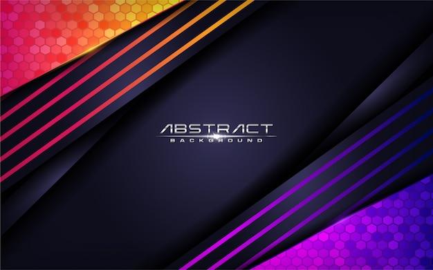 Design moderno colorato sfondo futuristico. illustrazione
