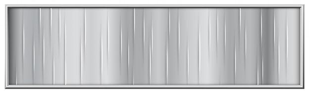Design moderno con bordo in metallo argentato per pubblicità
