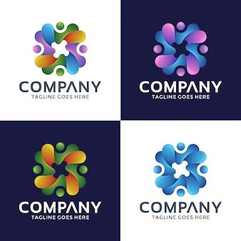 Design moderno del logo per il tuo business.
