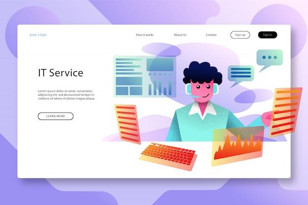 Design moderno del modello della pagina di destinazione