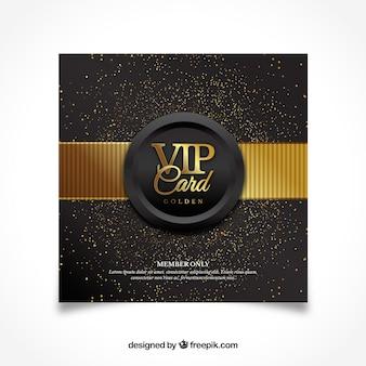 Design moderno della carta vip dorata
