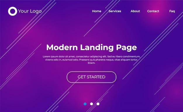 Design moderno della pagina di destinazione del sito web