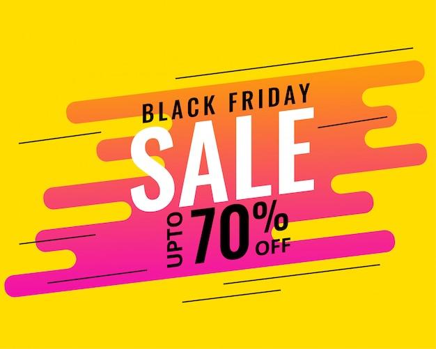 Design moderno di memphis stile nero venerdì vendita banner