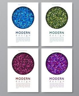 Design moderno ed elegante di biglietti d'invito