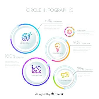 Design moderno infografica cerchio