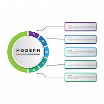 Design moderno infografica timeline