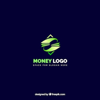 Design moderno logo denaro