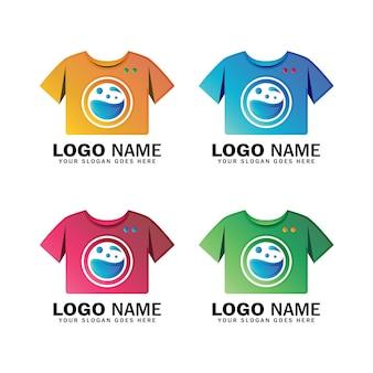 Design moderno logo lavanderia, servizio di pulizia abbigliamento, attività di pulizia
