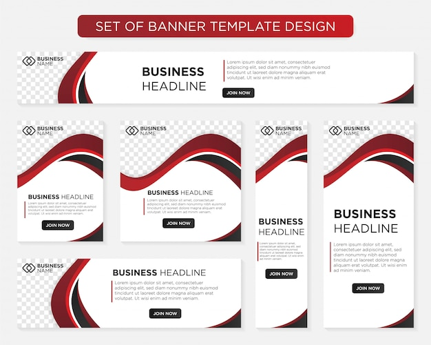 Design moderno modello di banner
