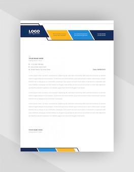 Design moderno modello di carta intestata stile aziendale.