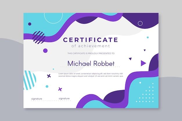 Design moderno modello di certificato