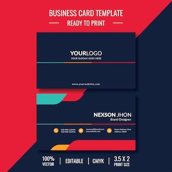 Design moderno per biglietti da visita