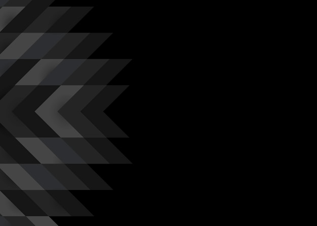 Design moderno sfondo nero 3d