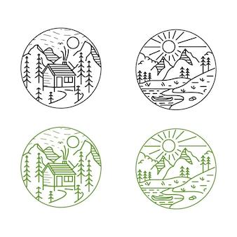 Design mono-line di montagna