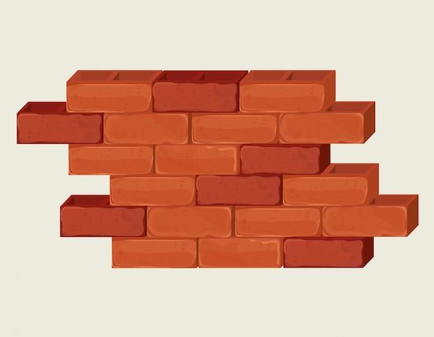 Design muro di mattoni.