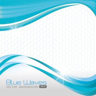 Design onde blu.
