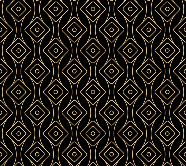Design pattern art deco senza cuciture