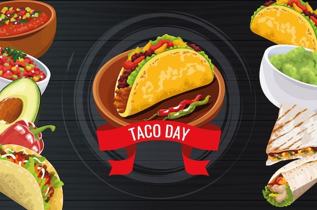 Design per la celebrazione del national taco day