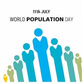 Design per la giornata della popolazione mondiale