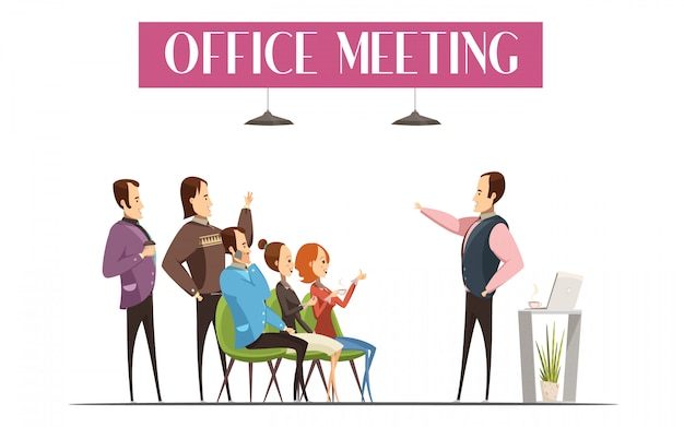 Design per riunioni d'ufficio, compreso il capo