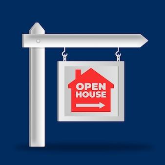 Design per segno casa aperta