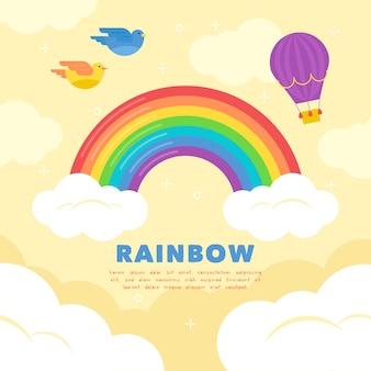Design piatto arcobaleno
