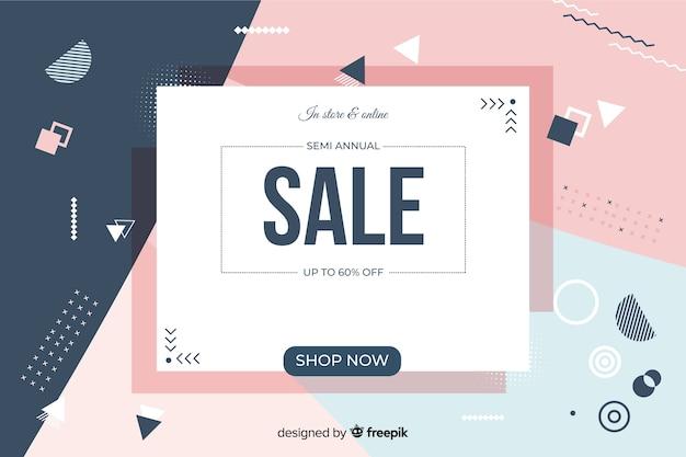 Design piatto astratto vendita sfondo