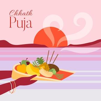 Design piatto chhath puja