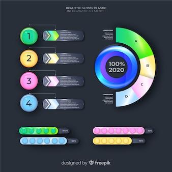 Design piatto collezione di elementi di infografica