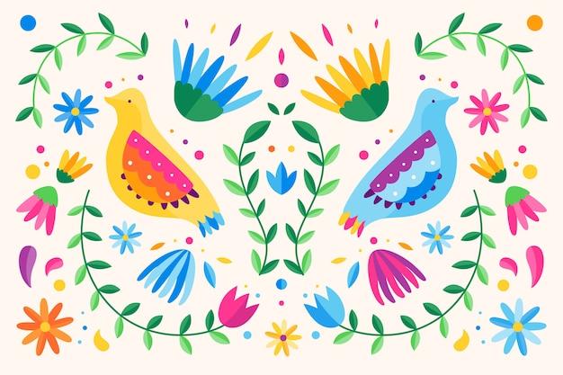 Design piatto colorato sfondo messicano