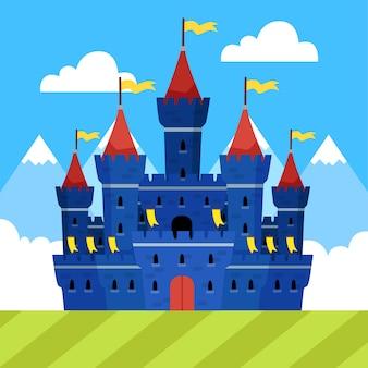 Design piatto da favola castello magico