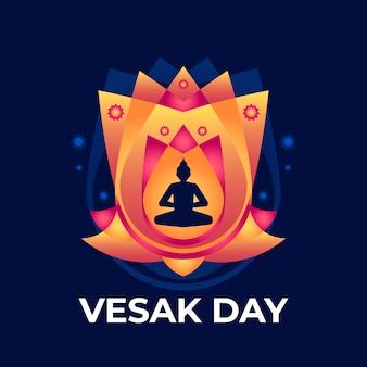 Design piatto del concetto di vesak