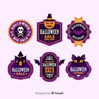Design piatto della collezione di etichette in vendita di halloween