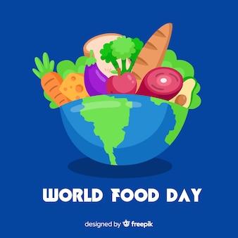Design piatto della giornata mondiale dell'alimentazione