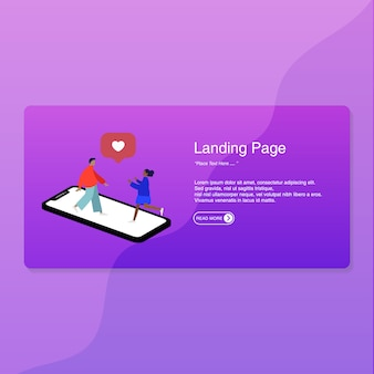Design piatto della pagina di destinazione