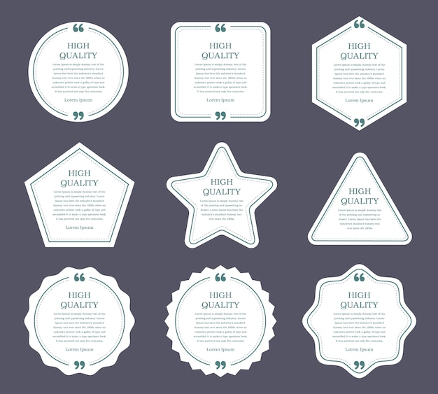 Design piatto delle etichette