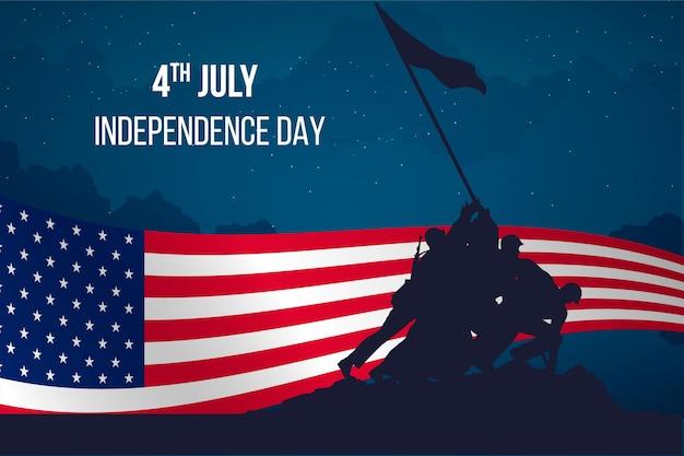 Design piatto design giorno dell'indipendenza