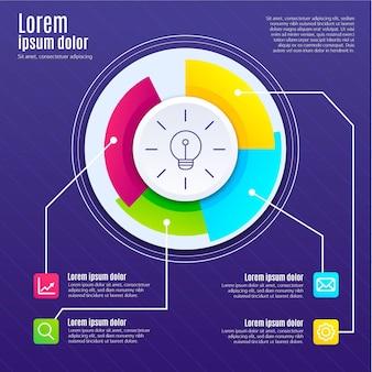 Design piatto di infografica creatività