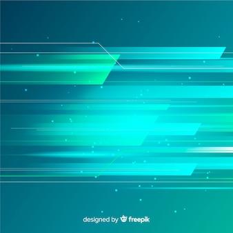Design piatto di sfondo leggero movimento
