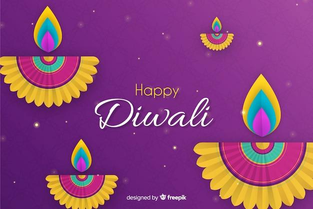 Design piatto di vendita diwali con gradiente