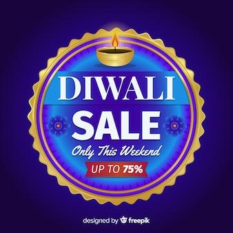 Design piatto di vendita diwali